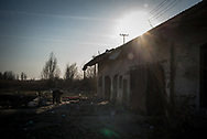 The abandoned brick factory in the ouskirts of Subotica where about 20 migrants are now livins. March 17th, 2017, Belgrade, Serbia. Federico Scoppa/CAPTA