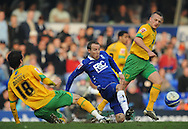 Birmingham - Saturday March 21st, 2009: Lee Bowyer of Birmingham City and Dave Mooney & Sammy Clingan of Norwich City during the Coca Cola Championship match at St Andrews, Birmingham. (Pic by Alex Broadway/Focus Images)