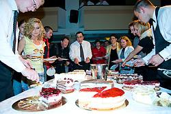 Cakes at event Miss Sports of Slovenia, on April 18, 2009, in Festivalna dvorana, Ljubljana, Slovenia. (Photo by Ales Oblak / Sportida)
