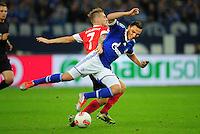 FUSSBALL   1. BUNDESLIGA   SAISON 2012/2013   5. SPIELTAG FC Schalke 04 - FSV Mainz 05                               25.09.2012        Eugen Polanski (li, Mainz) gegen Marco Hoeger (re, FC Schalke 04)
