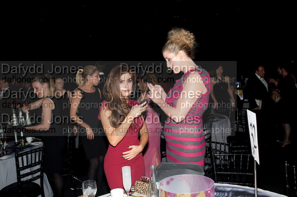 RACHEL SHENTS; BRONAGH WAUGH, Grey Goose Winter Ball to Benefit the Elton John AIDS Foundation. Battersea park. London. 29 October 2011. <br /> <br />  , -DO NOT ARCHIVE-&copy; Copyright Photograph by Dafydd Jones. 248 Clapham Rd. London SW9 0PZ. Tel 0207 820 0771. www.dafjones.com.
