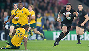 London, Great Britain, All Blacks centre, Ma'a NONU, cuts through the Australia team for a second half try during the 2015 Rugby World Cup Final. New Zealand vs Australia,, Twickenham Stadium,London. England,, Saturday  31/10/2015. <br /> [Mandatory Credit; Peter Spurrier/Intersport-images]