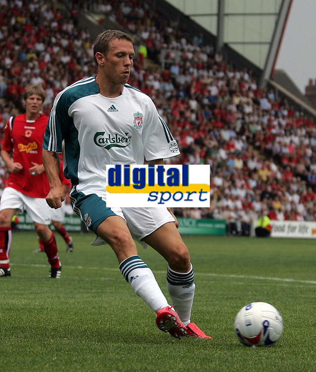 Photo: Paul Thomas.<br /> Crewe Alexandra v Liverpool. Pre Season Friendly. 22/07/2006.<br /> <br /> Craig Bellamy in action for Liverpool.