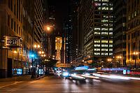 LaSalle Street & Chicago Board of Trade (Night)