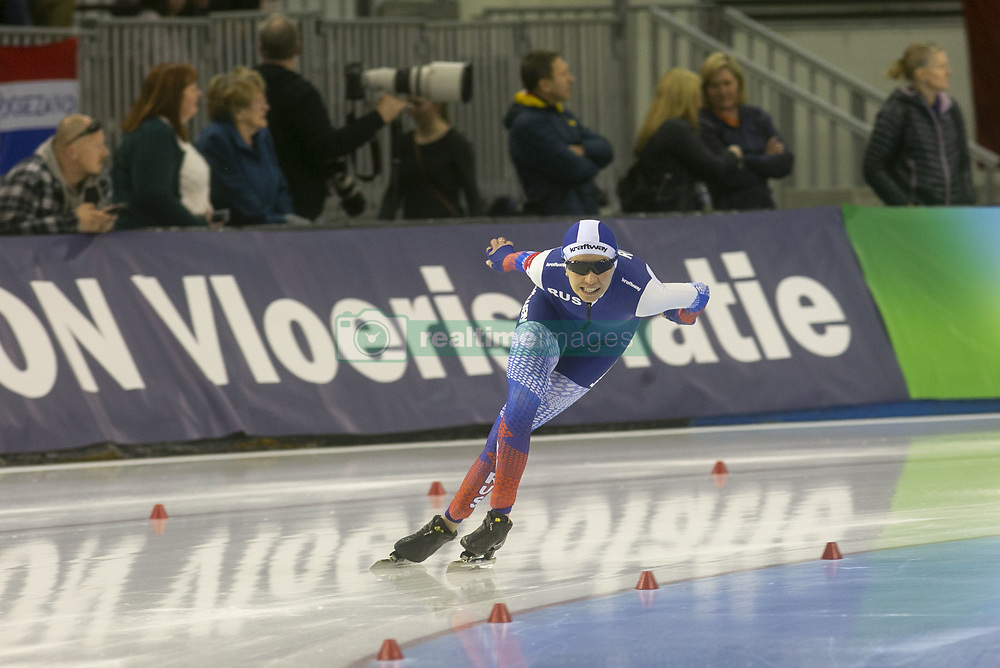 March 9, 2019 - Salt Lake City, Utah, USA - Evgenlia Lalenkova of Russia competes in the ladies 3000m speed skating finals at the ISU World Cup at the Olympic Oval in Salt Lake City, Utah. (Credit Image: © Natalie Behring/ZUMA Wire)