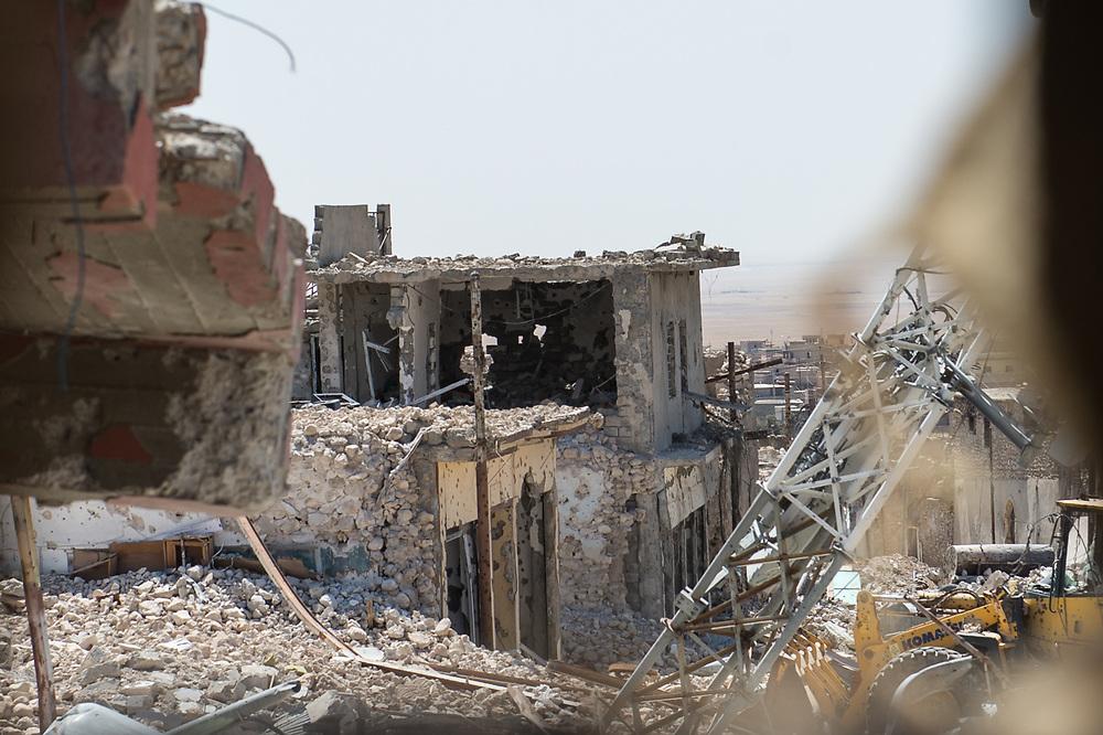 War-damaged houses in Shingal (Sinjar), Iraq, August 27, 2015