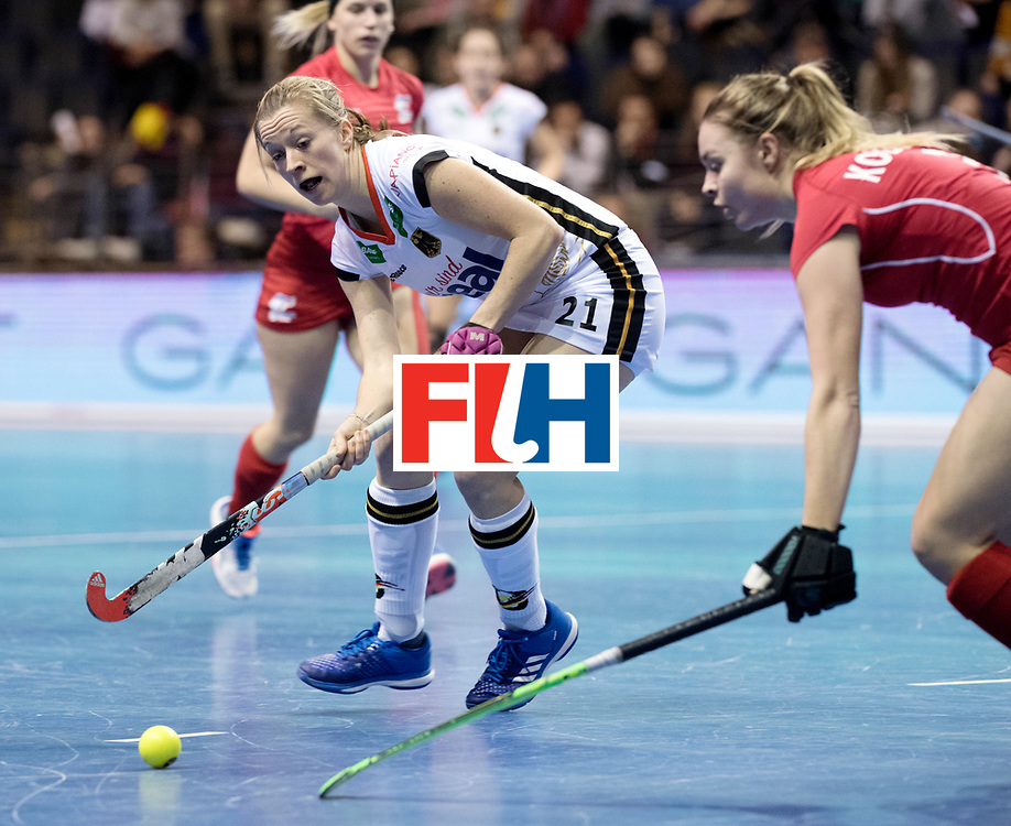 BERLIN - Indoor Hockey World Cup<br /> Women: Czech Republic - Germany<br /> foto: Franzisca Hauke.<br /> WORLDSPORTPICS COPYRIGHT FRANK UIJLENBROEK
