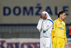 William Franklin Vicente of Gorica and Matic Seferovic  of Domzale during football match between NK Domzale and HIT Gorica of 25th Round of PrvaLiga, on April 1, 2011, in Sports park Domzale, Slovenia. (Photo by Vid Ponikvar / Sportida)