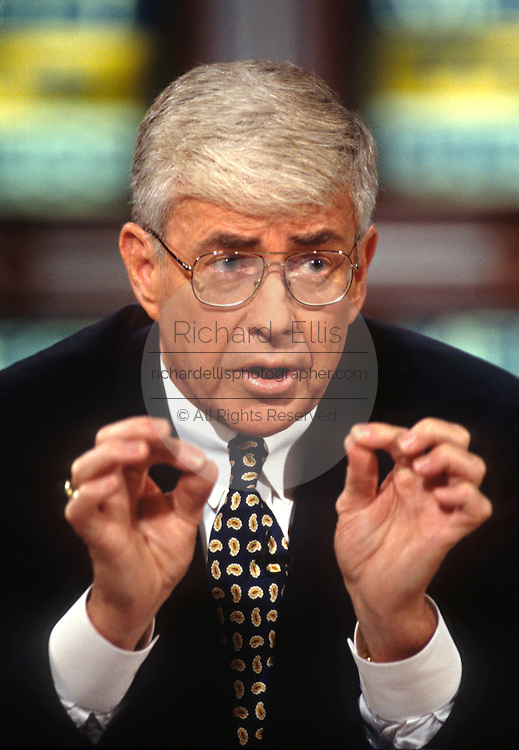 Rep. Jack Kemp on NBC's Meet the Press October 6, 1996 in Washington, DC.