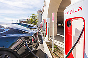 Tesla Supercharging Station at The Outlets in San Clemente