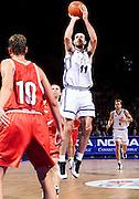 Francia 27/06/1999<br /> Campionati Europei di Basket Francia 1999<br /> Italia-Rep. Ceka<br /> Andrea Meneghin