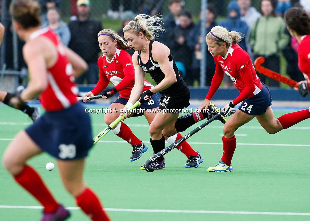 New Zealand's Anita Punt. Fourth test, New Zealand Black Sticks Women v USA women's international hockey, Twin Turfs , Palmerston North, New Zealand. Thursday, 23 October, 2014. Photo: John Cowpland / www.photosport.co.nz