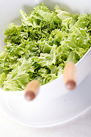 Close up of lettuce in bowl