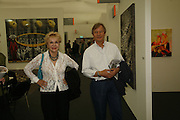 Pat and Michael york, The Professional View and Private View of Frieze Art Fair. London. 11 october 2006. -DO NOT ARCHIVE-© Copyright Photograph by Dafydd Jones 66 Stockwell Park Rd. London SW9 0DA Tel 020 7733 0108 www.dafjones.com