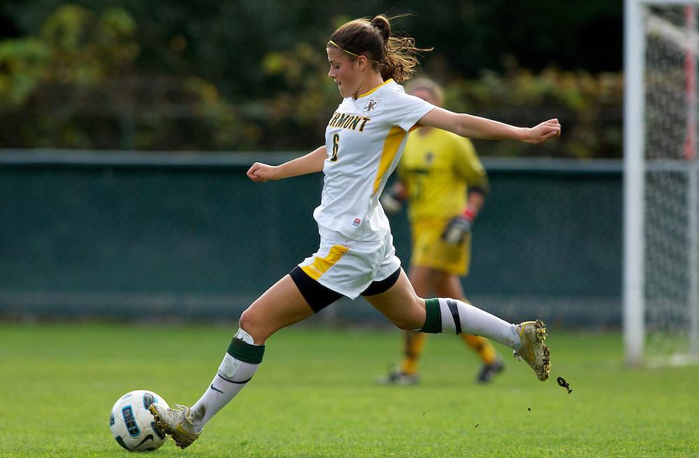 The New Hampshire Wildcats and the Vermont Catamounts play a women's soccer game at Centennial Field on Thursday afternoon October 13, 2011 in Burlington, Vermont.