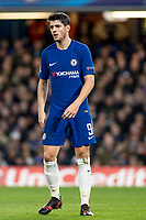 LONDON,ENGLAND - DECEMBER 05: Chelsea (9) Álvaro Morata during the UEFA Champions League group C match between Chelsea FC and Atletico Madrid at Stamford Bridge on December 5, 2017 in London, United Kingdom.  <br /> ( Photo by Sebastian Frej / MB Media )