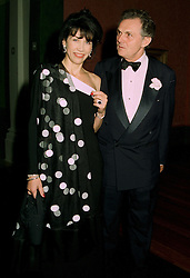 LORD & LADY HINDLIP he is head of auctioneers Christie's, at a dinner in London on 1st July 1997.LZW 39