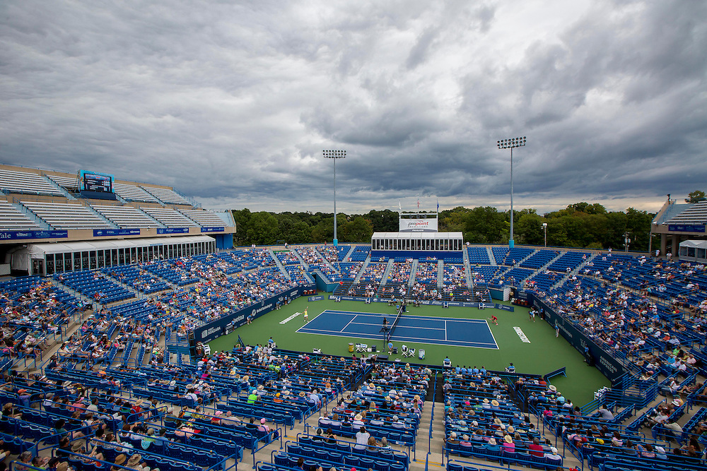 August 23, 2014, New Haven, CT:<br /> A general view of stadium court during the singles final on day nine of the 2014 Connecticut Open at the Yale University Tennis Center in New Haven, Connecticut Saturday, August 23, 2014.<br /> (Photo by Billie Weiss/Connecticut Open)