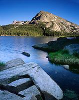 Schiestler Peak and Big Sandy Lake, Bridger Wilderness Wind River Range Wyoming USA