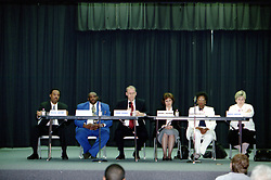 Candidates for District 87 School Board.<br /> <br /> <br /> This image was scanned from a slide, print, negative or transparency.  Image quality may vary.  Dust and other unwanted artifacts may exist.