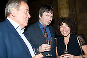ANTHONY CHEETHAM; IAN RANKIN; FRANCESCA SIMON, Orion Authors' Party celebrating their 20th anniversary. Natural History Museum, Cromwell Road, London, 20 February 2012.