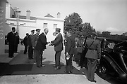 17/7/1964<br /> 7/17/1964<br /> 17 July 1964<br /> <br /> Ayub Khan President of Pakistan being greeted by Irish President Éamon de Valera at Aras an Uachtarain