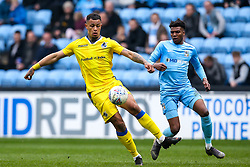 Jonson Clarke-Harris of Bristol Rovers takes on Dujon Sterling of Coventry City - Mandatory by-line: Robbie Stephenson/JMP - 07/04/2019 - FOOTBALL - Ricoh Arena - Coventry, England - Coventry City v Bristol Rovers - Sky Bet League One