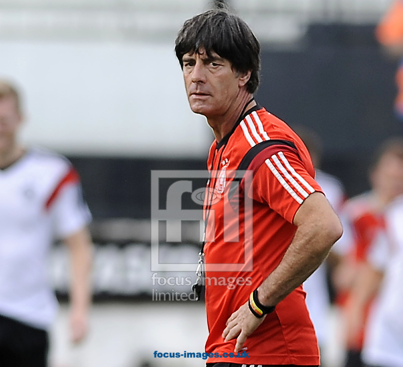 Germany manager Joachim Low during Germany training at Maracana Stadium, Rio de Janeiro<br /> Picture by Stefano Gnech/Focus Images Ltd +39 333 1641678<br /> 12/07/2014