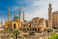 Mohammad Al-Amin Mosque in Beirut capital city of Lebanon Middle east