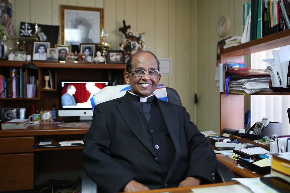 Catholic Reverend Cherian Thalakulam has been in charge of St Edward Church since 2001 in Murphy VIllage. <br /> <br /> Murphy Village, North Augusta, South Carolina is a community of around 2000 Irish Travellers who settled there in the late 60s. They bought some land, following the advice of Catholic priest Father Murphy who also had a catholic church, St Edward, built in Murphy village.