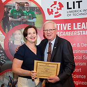 24.05.2017      <br /> LIT GO4IT and GIVE Volunteer Awards 2017. Pictured receiving their GIVE Award from Prof. Vincent Cunnane, President LIT was Noelle Clancy. Picture: Alan Place.