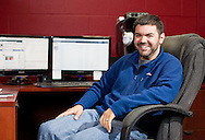 Nick Bergus in his office at the North Liberty Community Center in North Liberty, Iowa on Thursday, May 31, 2012.