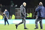 Manchester City manager Pep Guardiola during the EFL Cup match between Oxford United and Manchester City at the Kassam Stadium, Oxford, England on 18 December 2019.
