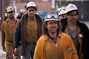 Miners coming off shift Frickley Colliery, South Elsmsall. British Coal Doncaster Area. 29/10/1992.