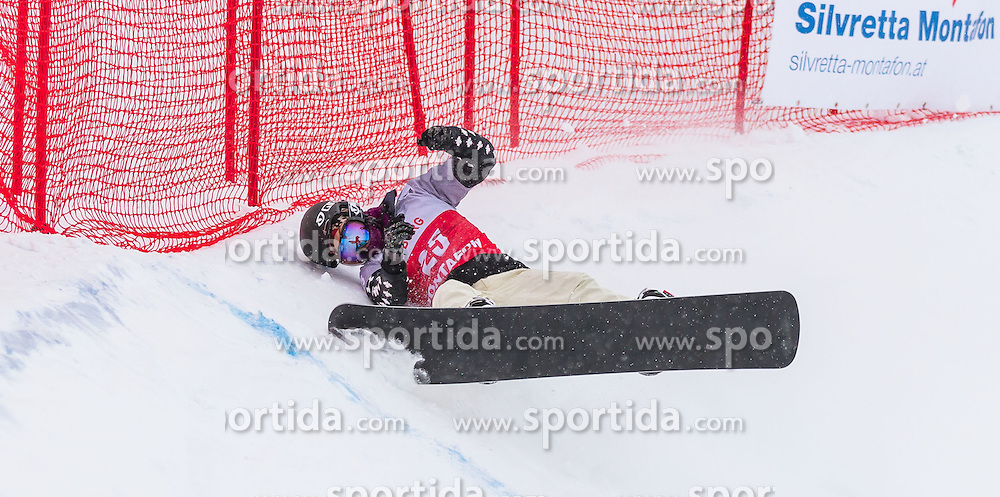 07.12.2012, Montafon Seebliga, Schruns, AUT, FIS Worldcup SBX, Qualifiaktion, Damen, im Bild Michelle Brodeur (CAN) // Michelle Brodeur of Canada in action during ladies qualifying round of the SBX Weltcup at the Montafon Seebliga course, Schruns, Austria on 2012/12/07. EXPA Pictures © 2012, PhotoCredit: EXPA/ Peter Rinderer