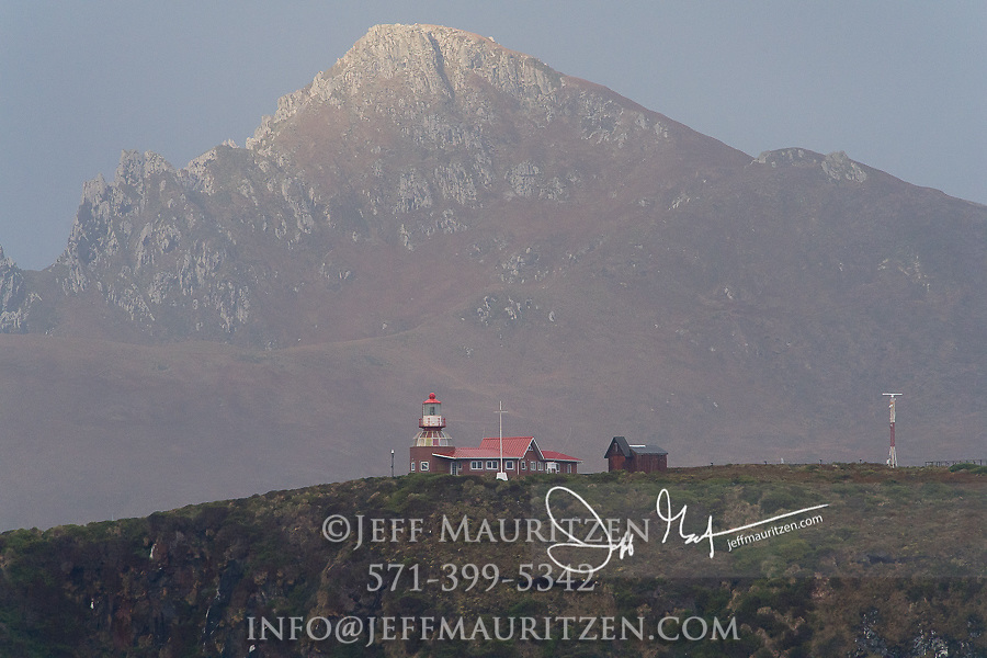 Cape Horn lighthouse on Hornos Island, part of Tierra del Fuego, Chile.