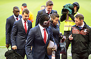 Crystal Palace players arrive at the ground before the Barclays Premier League match at Anfield, Liverpool<br /> Picture by Russell Hart/Focus Images Ltd 07791 688 420<br /> 08/11/2015