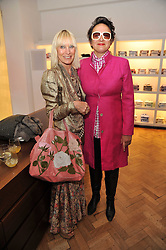 Left to right, VIRGINIA BATES and SELINA BLOW at a party to launch a range of SpongeBob SquarePants suits and accessories designed by Richard James in partnership with Nickelodeon held at Richard James, 29 Savile Row, London W1 on 11th May 2011.