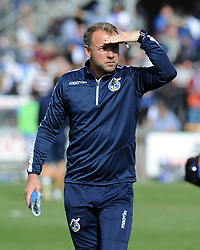 Bristol Rovers assistant manager Marcus Stewart - Mandatory by-line: Neil Brookman/JMP - 09/09/2017 - FOOTBALL - Memorial Stadium - Bristol, England - Bristol Rovers v Walsall - Sky Bet League One
