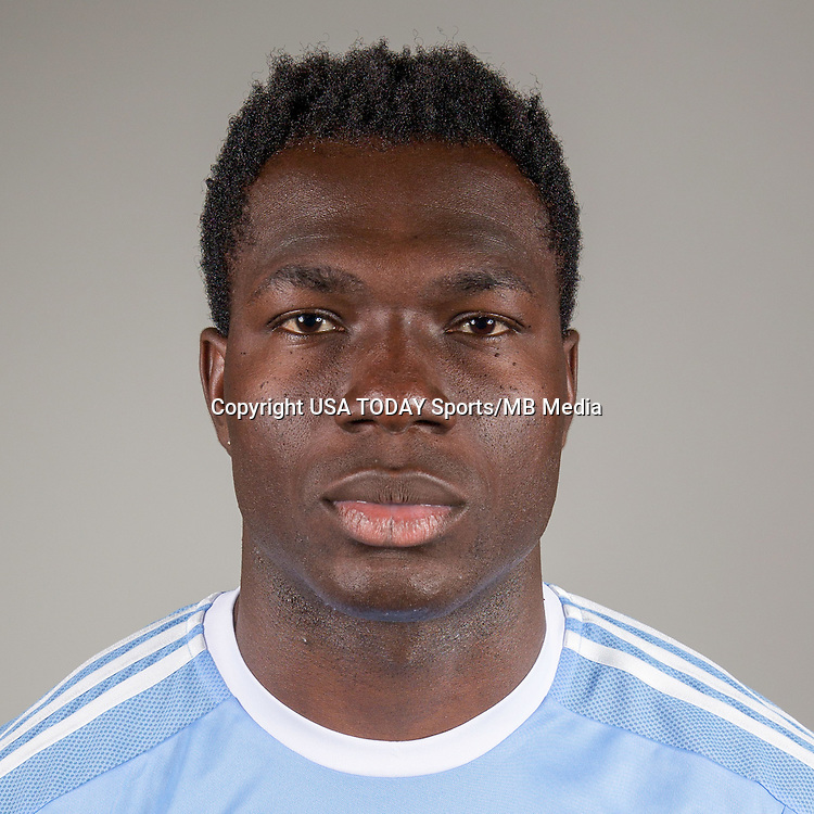 Feb 25, 2016; USA; New York City FC player Kwadwo Poku poses for a photo. Mandatory Credit: USA TODAY Sports