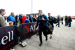 Niall Annett of Worcester Warriors arrives at The AJ Bell Stadium for his side's Gallagher Premiership fixture against Sale Sharks - Mandatory by-line: Robbie Stephenson/JMP - 09/09/2018 - RUGBY - AJ Bell Stadium - Manchester, England - Sale Sharks v Worcester Warriors - Gallagher Premiership