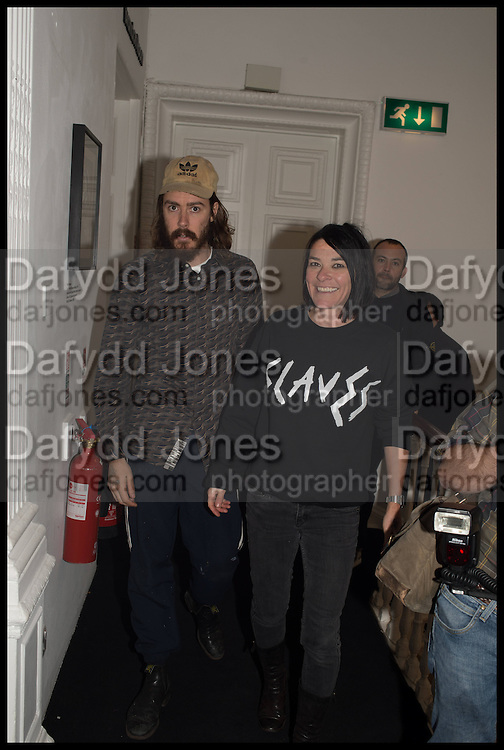 DANNY FOX; SUE WEBSTER, Private view, Paul Simonon- Wot no Bike, ICA Nash and Brandon Rooms, London. 20 January 2015