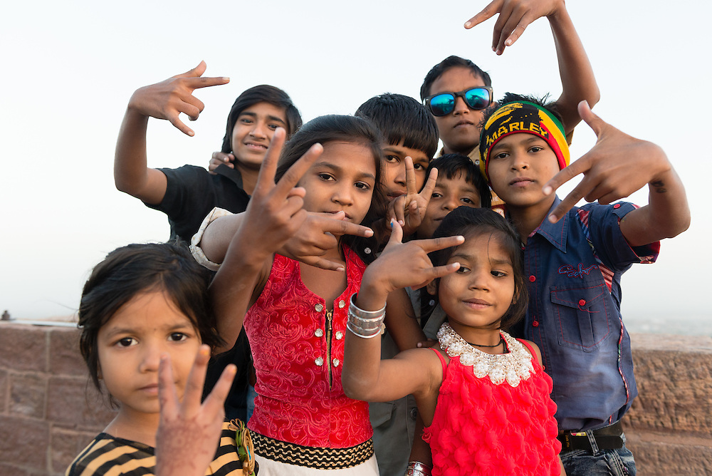 Portrait of Indian children in Jodhpur