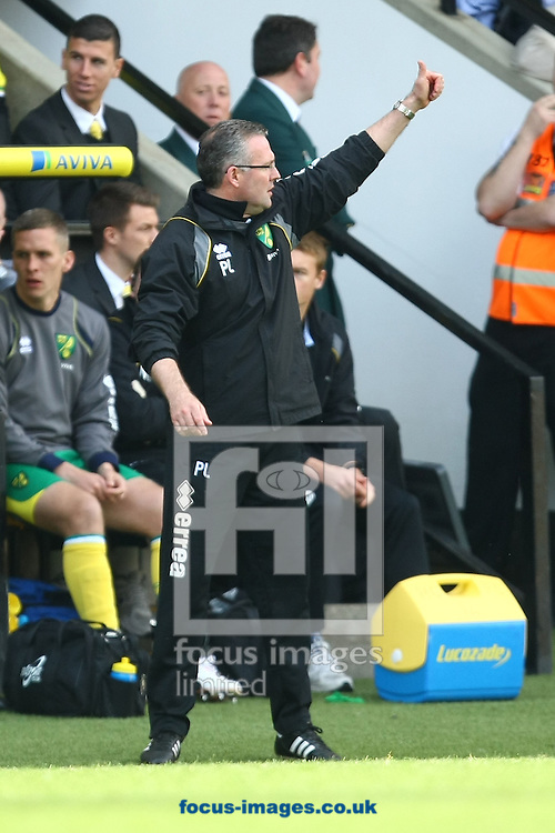 Picture by Paul Chesterton/Focus Images Ltd.  07904 640267.13/05/12.Norwich Manager Paul Lambert during the Barclays Premier League match at Carrow Road Stadium, Norwich.