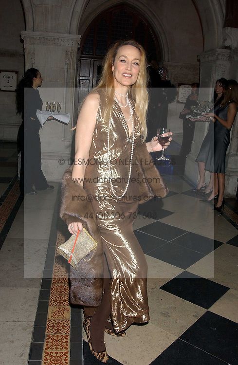 JERRY HALL at Andy & Patti Wong's annual Chinese New Year party, this year celebrating the year of the dog held at The Royal Courts of Justice, The Strand, London WC2 on 28th January 2006.<br />