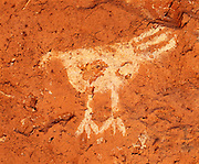 0405-1139 ~ Copyright: George H.H. Huey ~ Anasazi turkey pictograph on kiva wall in Long House.  Wetherill Mesa.  Mesa Verde National Park, Colorado.