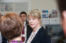 Scottish Health Secretary Shona Robison meets with staff at the Victoria Hospital in Kirkcaldy to announce £5 million GBP extra funding for NHS services in Scotland to help with tackling the increased strain on health services during the winter months.<br /> © Dave Johnston/ EEm
