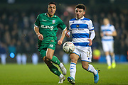 Sheffield Wednesday midfielder Joey Pelupessy (8) battles for possession with Queens Park Rangers midfielder Ilias Chair (19) during the The FA Cup match between Queens Park Rangers and Sheffield Wednesday at the Kiyan Prince Foundation Stadium, London, England on 24 January 2020.