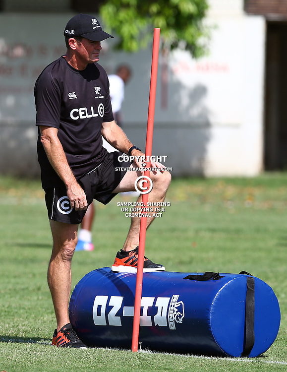 Sean Everitt (Assistant Coach) of the Cell C Sharks during The Cell C Sharks Pre Season training, session at Growthpoint Kings Park in Durban, South Africa. 16 February 2017(Photo by Steve Haag)<br /> <br /> images for social media must have consent from Steve Haag
