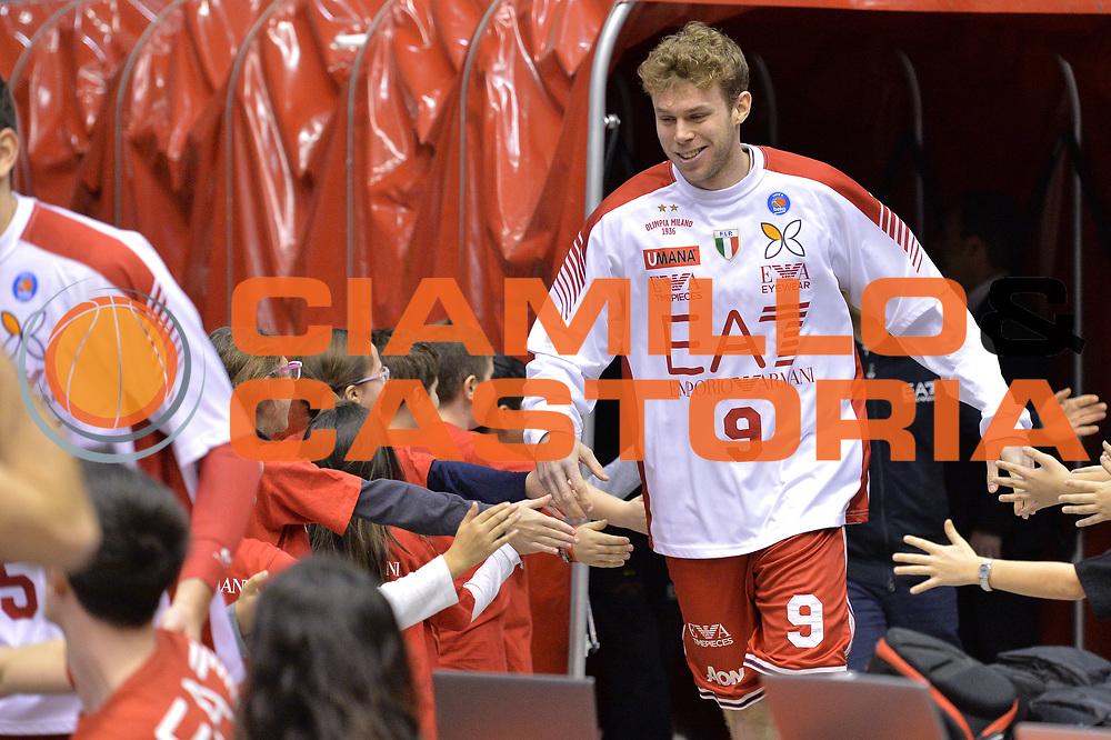 DESCRIZIONE : Milano Lega A 2014-15  EA7 Emporio Armani Milano vs Vagoli Basket Cremona<br /> GIOCATORE : Nicolo Melli<br /> CATEGORIA : PreGame ingresso in campo<br /> SQUADRA : EA7 Emporio Armani Milano<br /> EVENTO : Campionato Lega A 2014-2015<br /> GARA : EA7 Emporio Armani Milano vs Vagoli Basket Cremona<br /> DATA : 25/01/2015<br /> SPORT : Pallacanestro <br /> AUTORE : Agenzia Ciamillo-Castoria/I.Mancini<br /> Galleria : Lega Basket A 2014-2015  <br /> Fotonotizia : Cant&ugrave; Lega A 2014-2015 Pallacanestro : EA7 Emporio Armani Milano vs Vagoli Basket Cremona<br /> Predefinita :